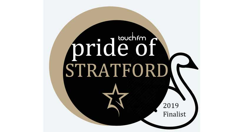 Finalist in 2019's Pride of Stratford Awards