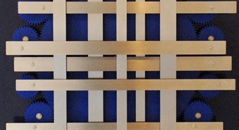 Lukas van de Vrande - Moving Stripes on display at The MAD Musuem, Stratford upon Avon, UK